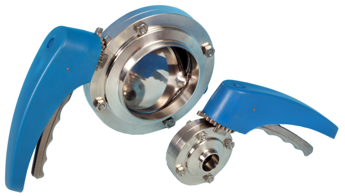 Hygienic Butterfly Valve with BS4825 Plain Weld Ends ETG HBV-PE