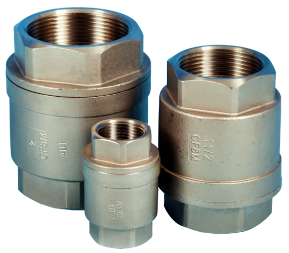"Screwed ""Barrel Type"" Spring Check Valve ETG-SPV69-S."
