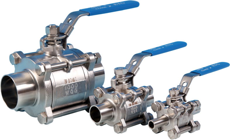3-Pce Full Bore Hygienic/Sanitary Cavity Filled Ball Valve with Weld Ends