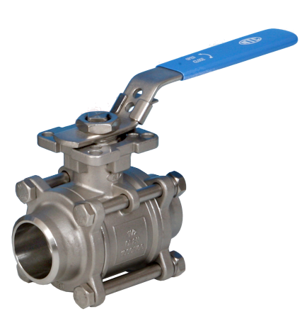 Stainless Steel 3-Pce Full Bore Actuated Ball Valve
