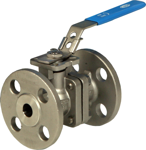 Stainless Steel Flanged Full Bore Actuated Ball Valve, PN16/40 End Connections