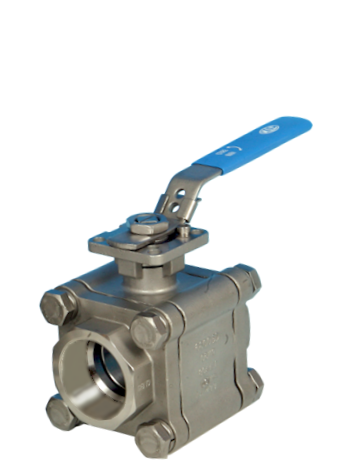 Stainless Steel 3-Pce Full Bore Firesafe Actuated Ball Valve