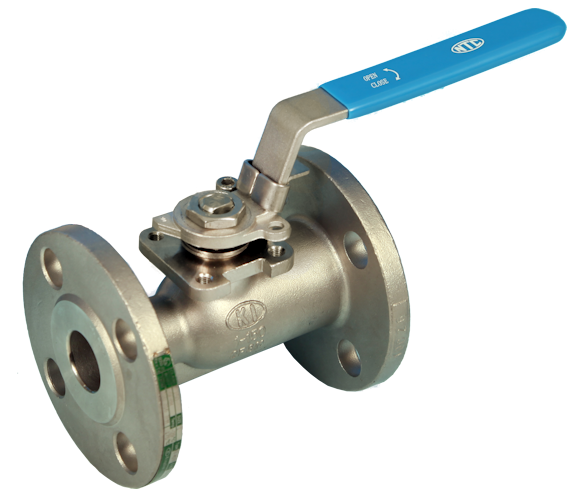 Stainless Steel Flanged Reduced Bore Actuated Ball Valve Screwed ANSI 150lb End Connections