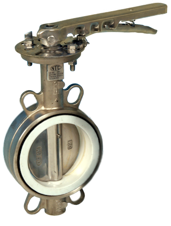 Stainless Steel Wafer Pattern Actuated Butterfly Valve PN10/16 and ANSI 150lb Flange Fitment