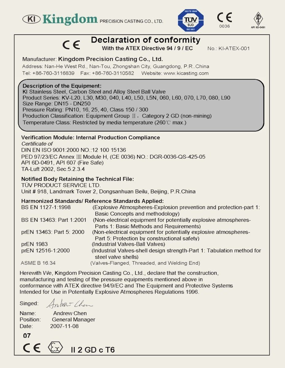 atex certificate registered number ntc wales marks trade copyright limited supplies england company gcstainless ki