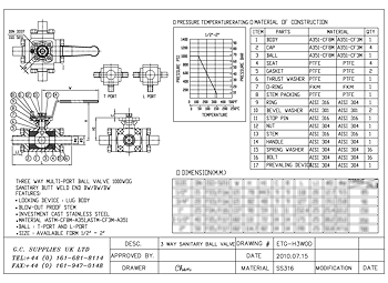 PDF for 3-Way Sanitary Weld End Direct Mount Ball Valve