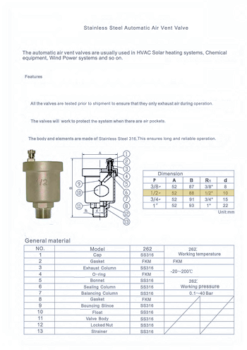 PDF for Stainless Steel Automatic Air Vent ETG-AAV