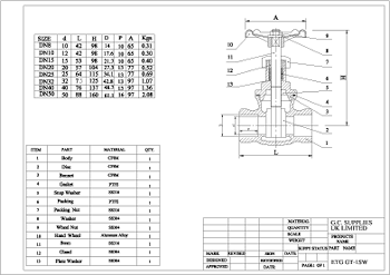PDF for Socket Weld Gate Valve ETG GT-1SW
