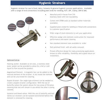 PDF for Y-Type Hygienic Pot Filter