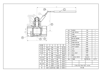 PDF For 2-Pce Full Bore Lever Operated Ball Valve