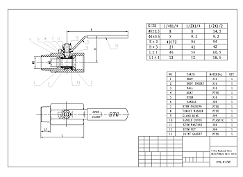 PDF For 1-Pce Male x Female Ball Valve