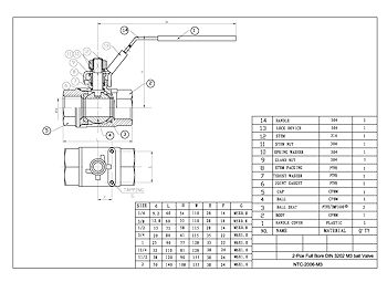 PDF For Heavy Duty 2-Pce Full Bore Ball Valve