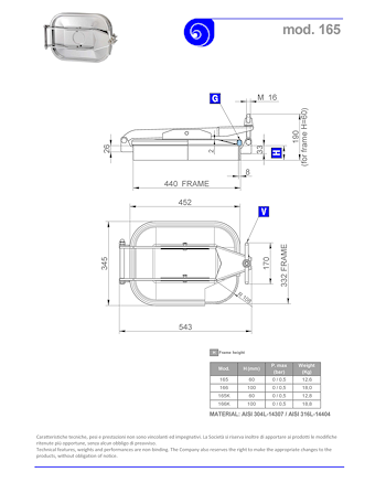 PDF for Stainless Steel 440 × 332mm Rectangular Pressure Manway 165 304L