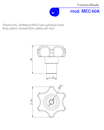 PDF for Blue Plastic Manway Handle Model MEC/60A M10