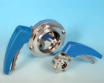 Stainless Steel Hygienic Butterfly Valve with BS4825 Plain Weld Ends ETG HBV-PE