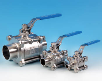 3-Pce Full Bore Hygienic/Sanitary Cavity Filled Direct Ball Valve with Weld Ends ETG SJG-80