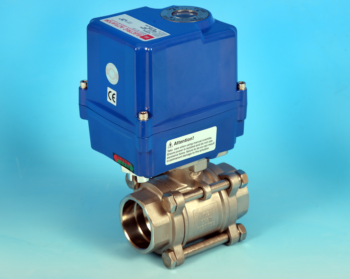 Stainless Steel Electric Actuators 3-Pce Full Bore Actuated Ball Valve Socket Weld End Connections