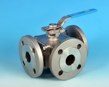 3-Way Direct Mount Flanged ANSI 150 Ball Valve NTC KV-L5U