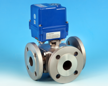 Stainless Steel Electric Actuators 3-Way Flanged Full Bore Actuated Ball Valve PN16/40 End Connections