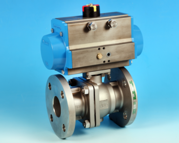 Stainless Steel Pneumatic Actuators Flanged Full Bore Actuated Ball Valve BS10 Table E End Connections