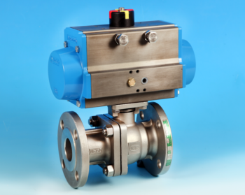 Stainless Steel Pneumatic Actuators Flanged Full Bore Actuated Ball Valve ANSI 150lb End Connections