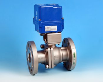 Stainless Steel Electric Actuators Flanged Full Bore Actuated Ball Valve ANSI 300lb End Connections