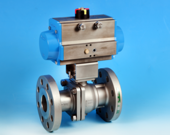 Stainless Steel Pneumatic Actuators Flanged Full Bore Actuated Ball Valve ANSI 300lb End Connections