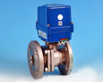 Stainless Steel Electric Actuators Flanged Full Bore Actuated Ball Valve, PN16/40 End Connections