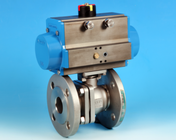 Stainless Steel Pneumatic Actuators Flanged Full Bore Actuated Ball Valve, PN16/40 End Connections