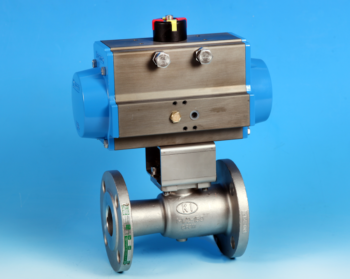 Stainless Steel Pneumatic Actuators Flanged Reduced Bore Actuated Ball Valve Screwed ANSI 150lb End Connections
