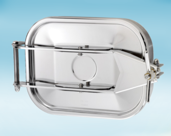Stainless Steel 440 × 332mm Rectangular Pressure Manway 165 304L