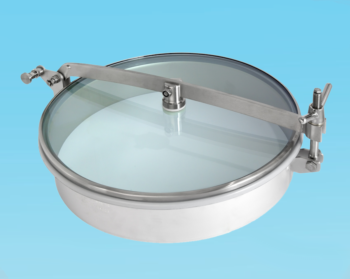 Stainless Steel 500mm Low/Non-Pressure Round Manway T1/G500 304L/Glass