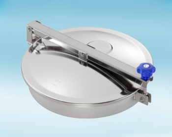 Stainless Steel 400mm Low/Non-Pressure Round Manway TV/400/B 316L