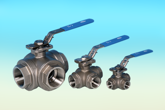 Stainless Steel 3-Way Ball Valves