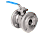 2-Pce Full Bore Flanged ANSI 150 Direct Mount Ball Valve NTC KV-L61