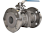PFA Lined 2-Pce Full Bore Flanged PN16 Ball Valve NTC KV-N44K
