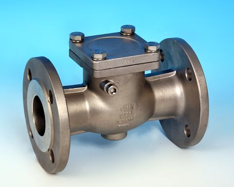 stainless steel Swing Pattern Check Valve Flanged BS4504 DIN PN16