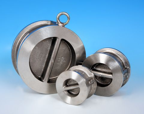 stainless steel Dual Plate Wafer Pattern Spring Check Valve