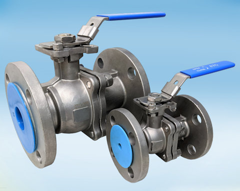 stainless steel 2-Pce Full Bore Flanged ASA 150 Ball Valve Lever Operated