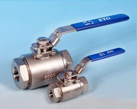 stainless steel 2-Pce Full Bore High Pressure Ball Valve Lever Operated