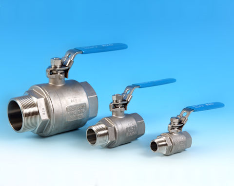 stainless steel 2-Pce Full Bore Ball Valve Lever Operated