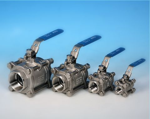 stainless steel 3-Pce Screwed Full Bore Ball Valve Lever Operated