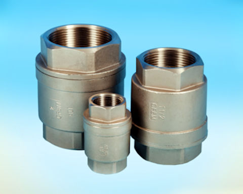 "stainless steel Screwed ""Barrel"" Spring Check Valve with PTFE Seat"