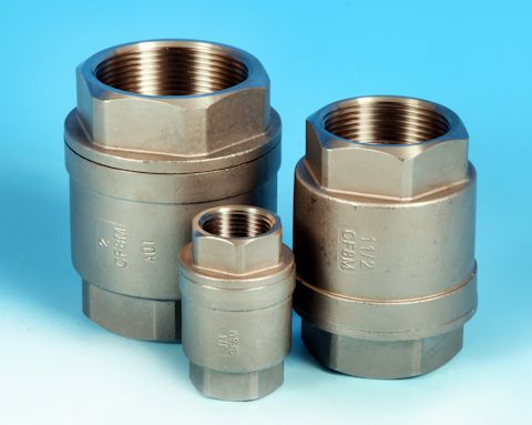 "stainless steel Screwed ""Barrel Type"" Spring Check Valve"