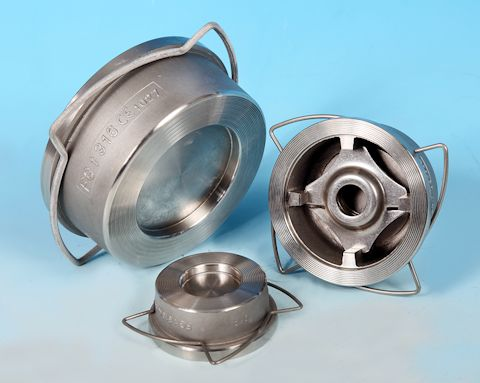 stainless steel Wafer Pattern Spring Check Valve