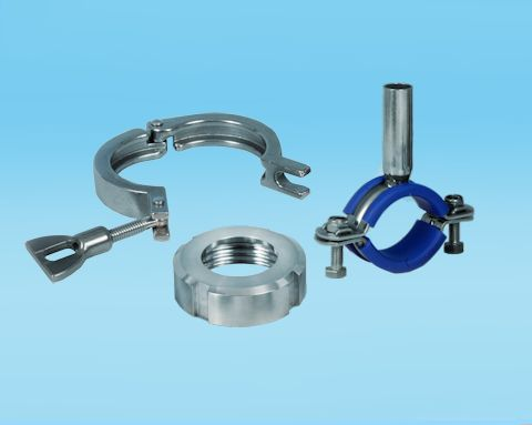 stainless steel DIN, Clamp Unions and Hygienic Hangers