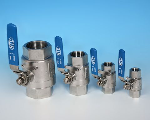 stainless steel Heavy Duty 2-Pce Full Bore Ball Valve Lever Operated